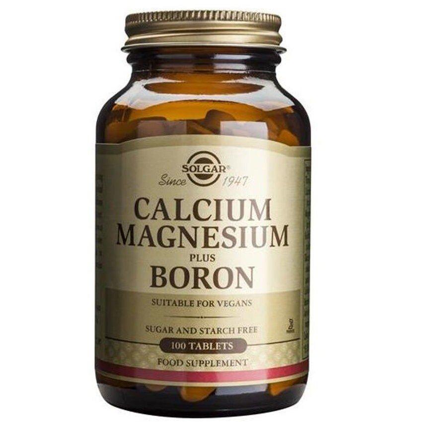 Solgar Calcium Magnesium Plus Boron Συμπλήρωμα Διατροφής που Συμβάλει στην Υψηλή Απορρόφηση του Ασβεστίου απο τα Οστά 100 tabs