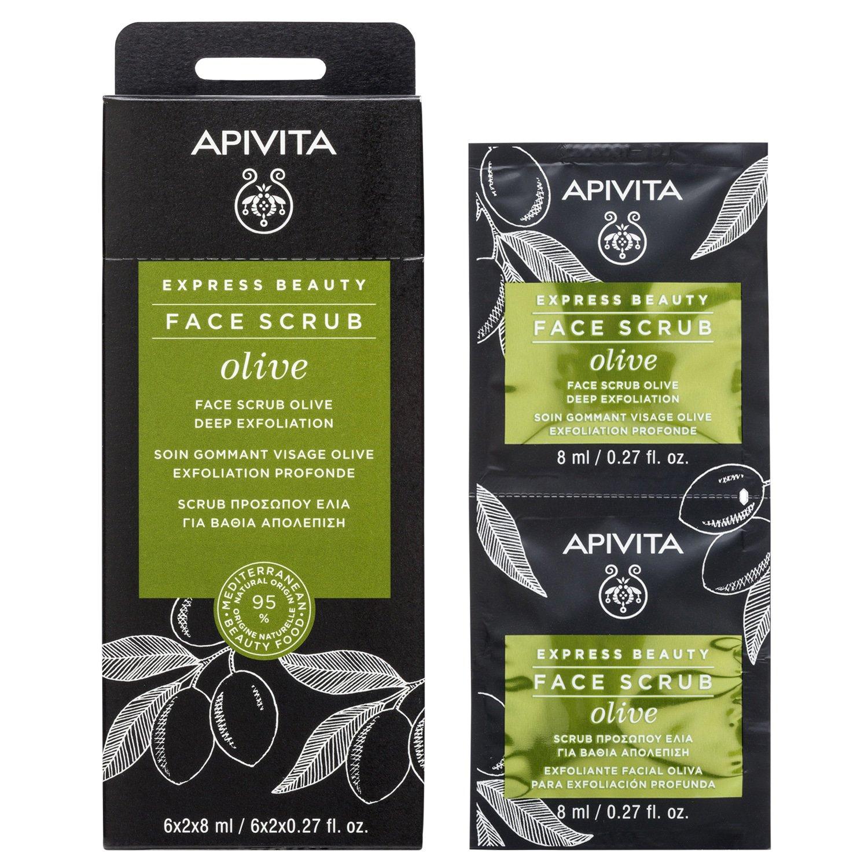 Apivita Express Beauty Κρέμα Βαθιάς Απολέπισης Με Ελιά 2x8ml