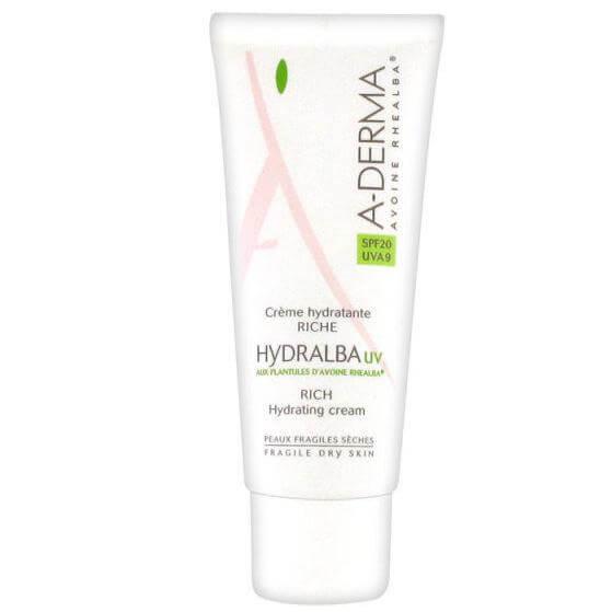 A-Derma Hydralba Hydratante UV Spf20 Riche, Πλούσια Eνυδατική Kρέμα Με Δείκτη Προστασίας 40ml
