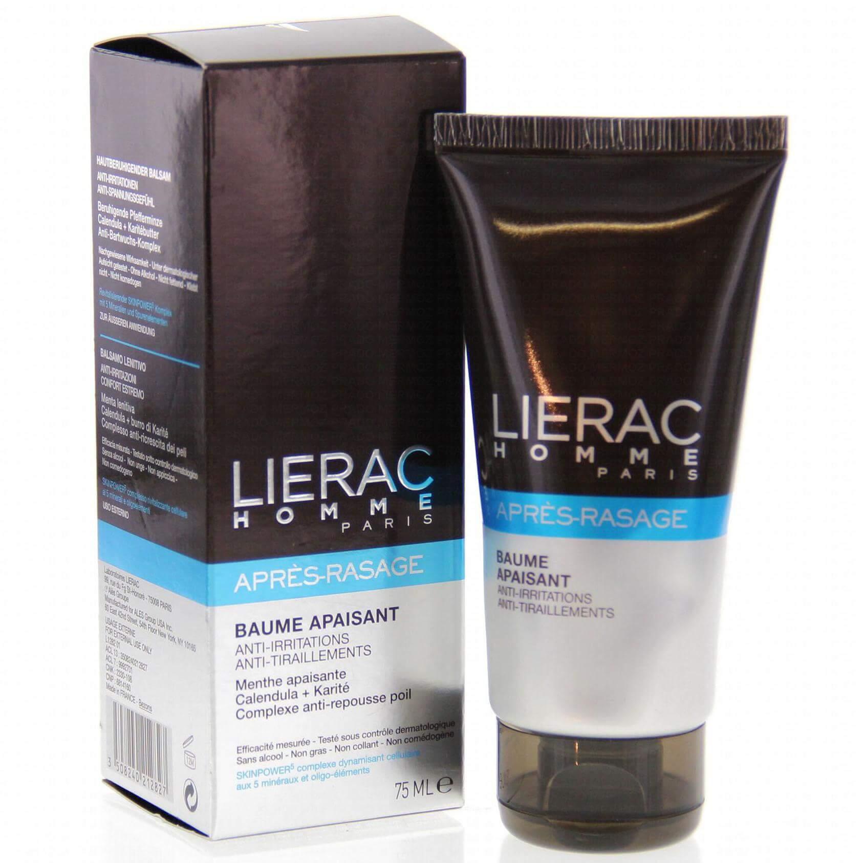 Lierac Homme Baume Apaisant Ενυδατικό Aftershave Κατά Των Ερεθισμών 75ml