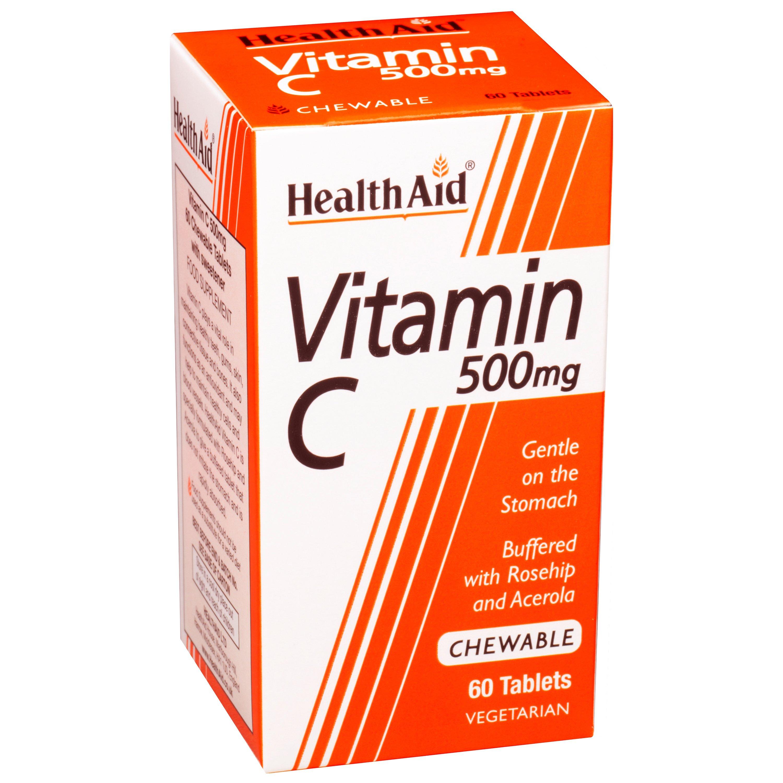 Health Aid Vitamin C 500mg Chewable 60tabs