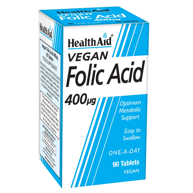 Health Aid Folic Acid 400μg Φολικό Οξύ 90tabs