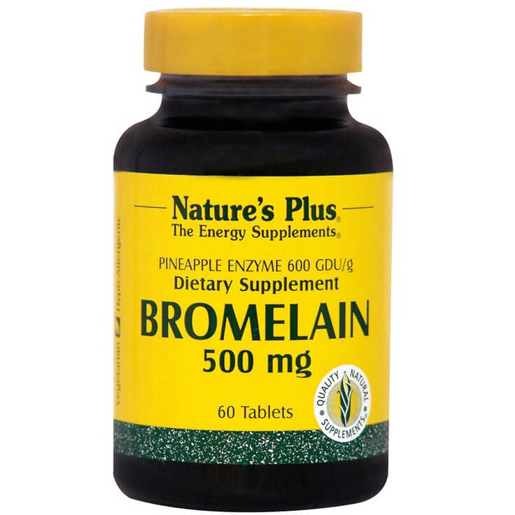 Natures Plus Bromelain 500mg Συμπλήρωμα Διατροφής Bρομελίνη Μεγάλης Ενζυματικής Ενεργότητας 60caps