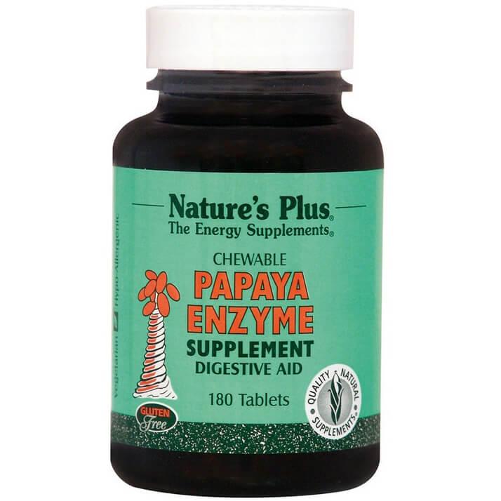 Natures Plus Papaya Enzyme Chewable Συμπλήρωμα Διατροφής Φυσικό, Ασφαλές Βοήθημα Πέψης 180 Chew Tabs