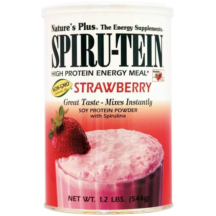 Natures Plus Spiru-Tein Shake 1,2lb Strawberry Συμπλήρωμα Διατροφής, Φόρμουλα Πλήρους Πρωτεΐνης σε Γεύση Φράουλα 544gr