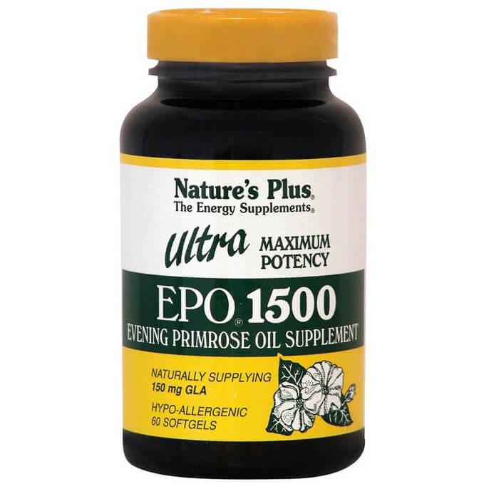 Natures Plus Ultra Epo 1500mg Συμπλήρωμα Διατροφής, Ιδανικό στο Καρδιαγγειακό και το Νευρικό Σύστημα 60Softgels