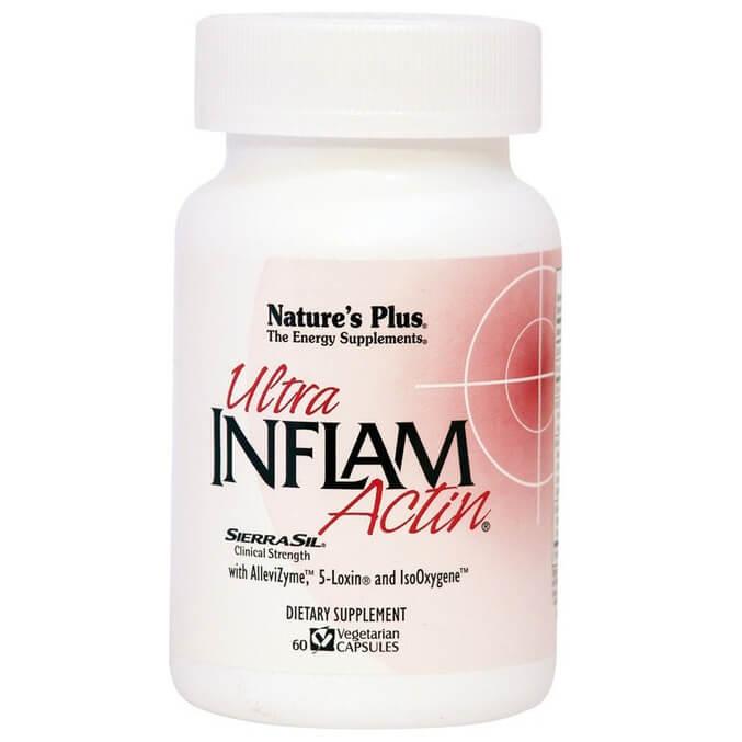 Natures Plus Ultra Inflam Actin Συμπλήρωμα Διατροφής με Αντιφλεγμονική, Αναλγητική και Αντιαρθριτική Δράση 60Veg.Caps