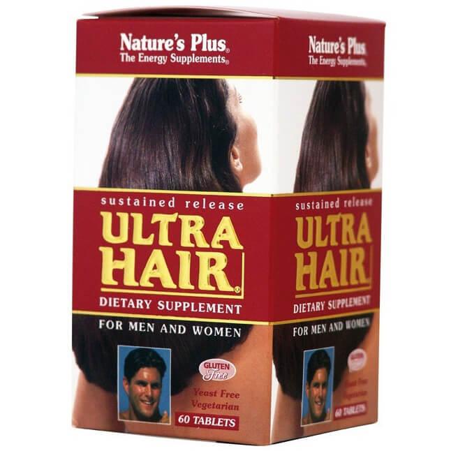 Natures Plus Ultra Hair Συμπλήρωμα Διατροφής, η Πληρέστερη Φόρμουλα που Έχει Δημιουργηθεί για Επανόρθωση Τρίχας 60Tabs