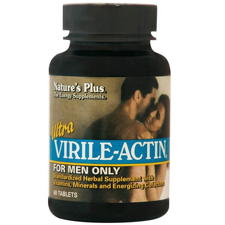 Natures Plus Ultra Virile-Actin Συμπλήρωμα Διατροφής για Τόνωση του Ανδρικού Οργανισμού & Ενίσχυση της Ερωτικής Διάθεσης 60Tabs