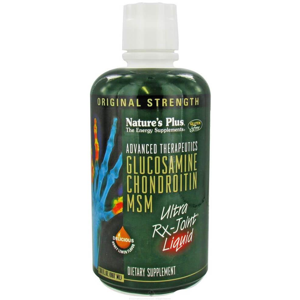 Natures Plus Glucosamine Chondroitin MSM Ultra Rx Joint Liquid Συμπλήρωμα Διατροφής Κατά της Αρθρίτιδας 887ml