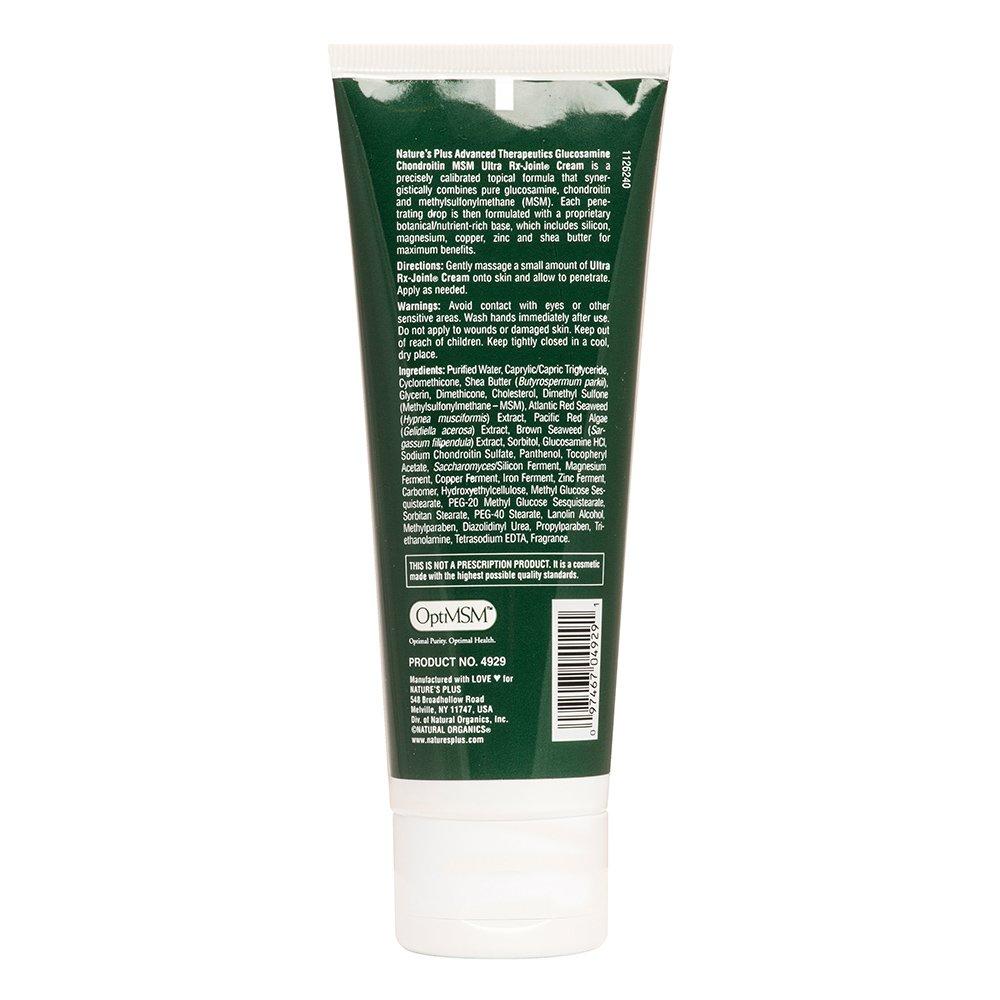Natures Plus Glucosamine Chondroitin MSM Ultra Rx Joint Cream Κρέμα με Αντιφλεγμονώδη & Αντιαρθριτική Δράση 118ml