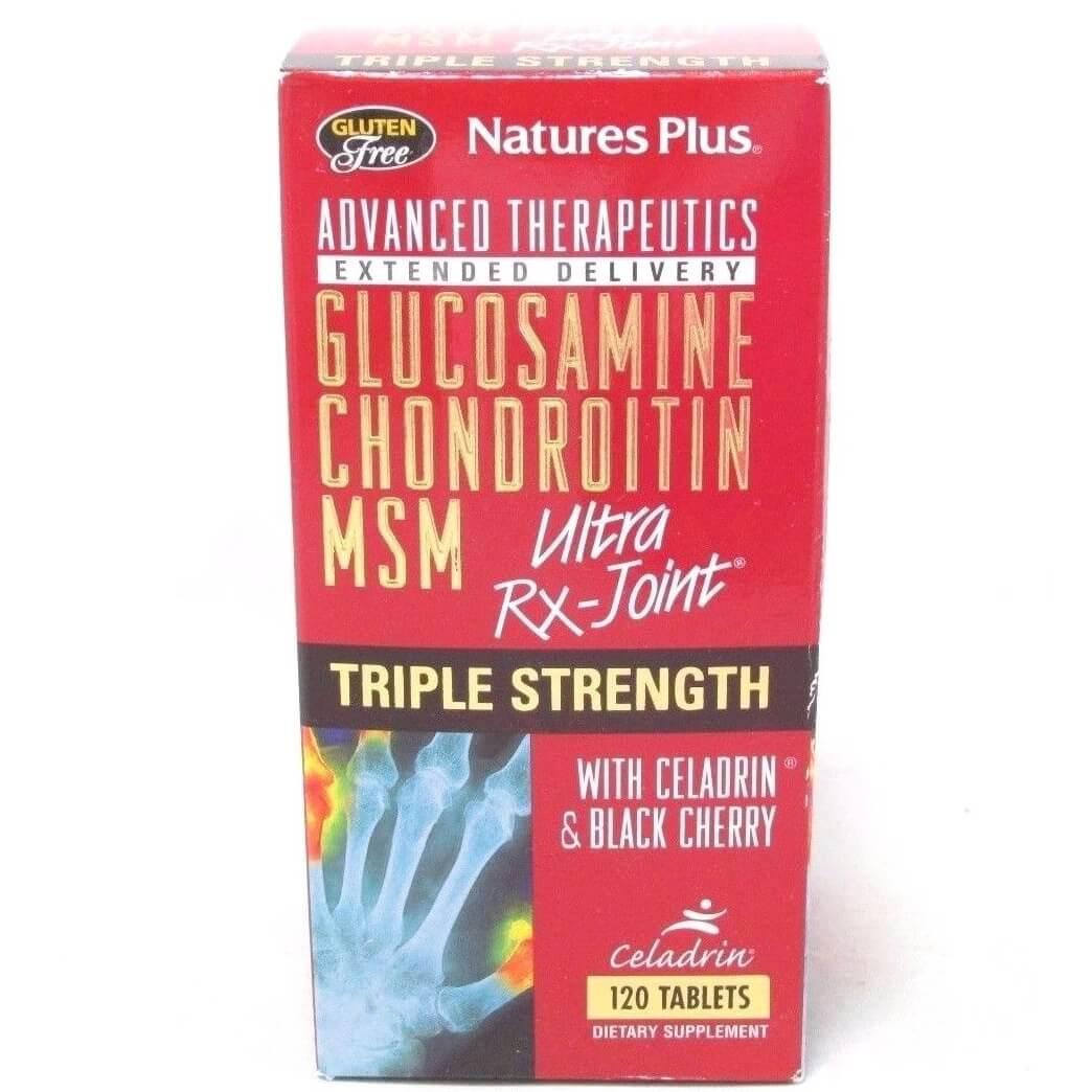 Natures Plus Triple Strength Ultra Rx-Joint Συμπλήρωμα Διατροφής με Αντιφλεγμονική & Αναλγητική Δράση 120tabs