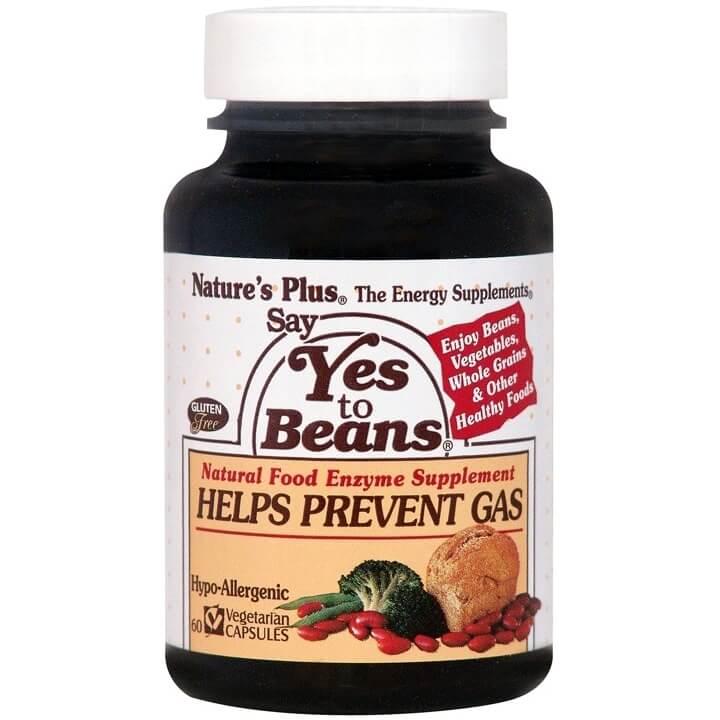 Natures Plus Say Yes To Beans Συμπλήρωμα Διατροφής Φυσικό Βοήθημα για την Καλή Χώνεψη Δύσπεπτων Τροφών 60caps