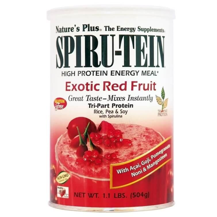 Natures Plus Spiru-TeinΣυμπλήρωμα Διατροφής Ιδανικό για Δραστήρια Άτομα &Αθλητές, σε Σκόνη με ΓεύσηΕξωτικών Φρούτων504gr