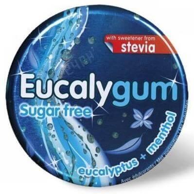 Tilman Eucalygum Sugar Free Eucalyptus & Menthol Φαρμακευτική Τσίχλα που Διευκολύνει την Αναπνοή, με Stevia 32gr