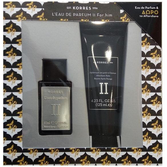 Korres Ανδρικό Σετ Eau de Parfum Cardamom/Tobacco/Vetiver/Sandalwood Άρωμα 50ml & Δώρο AfterSave Balm για Μετά το Ξύρισμα 125ml
