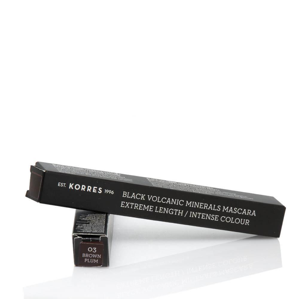 Korres Black Volcanic Minerals Professional Length Mascara Μάσκαρα για Εντυπωσιακό Μήκος-Πλούσιο Χρώμ No03 BrownPlum/Καφέ 7.5ml