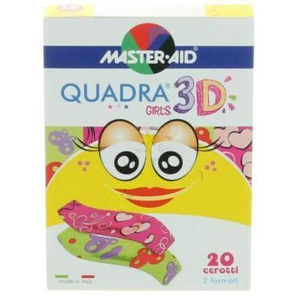 Master Aid Quadra 3D Αυτοκόλλητα Επιθέματα για Παιδιά 20Τεμάχια – Μπλε/Αγόρια