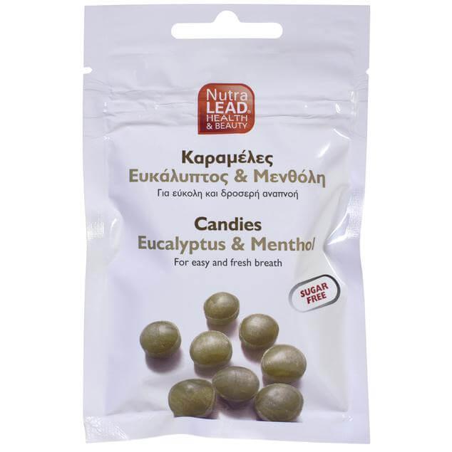 NutraLead Καραμέλες με Ευκάλυπτο & Μενθόλη για Εύκολη & Δροσερή Αναπνοή Χωρίς Ζάχαρη 40gr