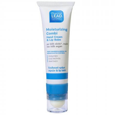 Pharmalead Moisturizing Compi Hand Cream & Lip Balm Ενυδατική Κρέμα Χεριών & Lip Balm με Λάδι Ελιάς, Ουρία & Λάδι Argan 30ml 10998