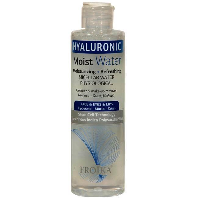 Froika Hyaluronic Moist Water Νερό Kαθαρισμού & Nτεμακιγιάζ Προσώπου, Ματιών & Χειλιών, με Αναζωογονητική Δράση 200ml