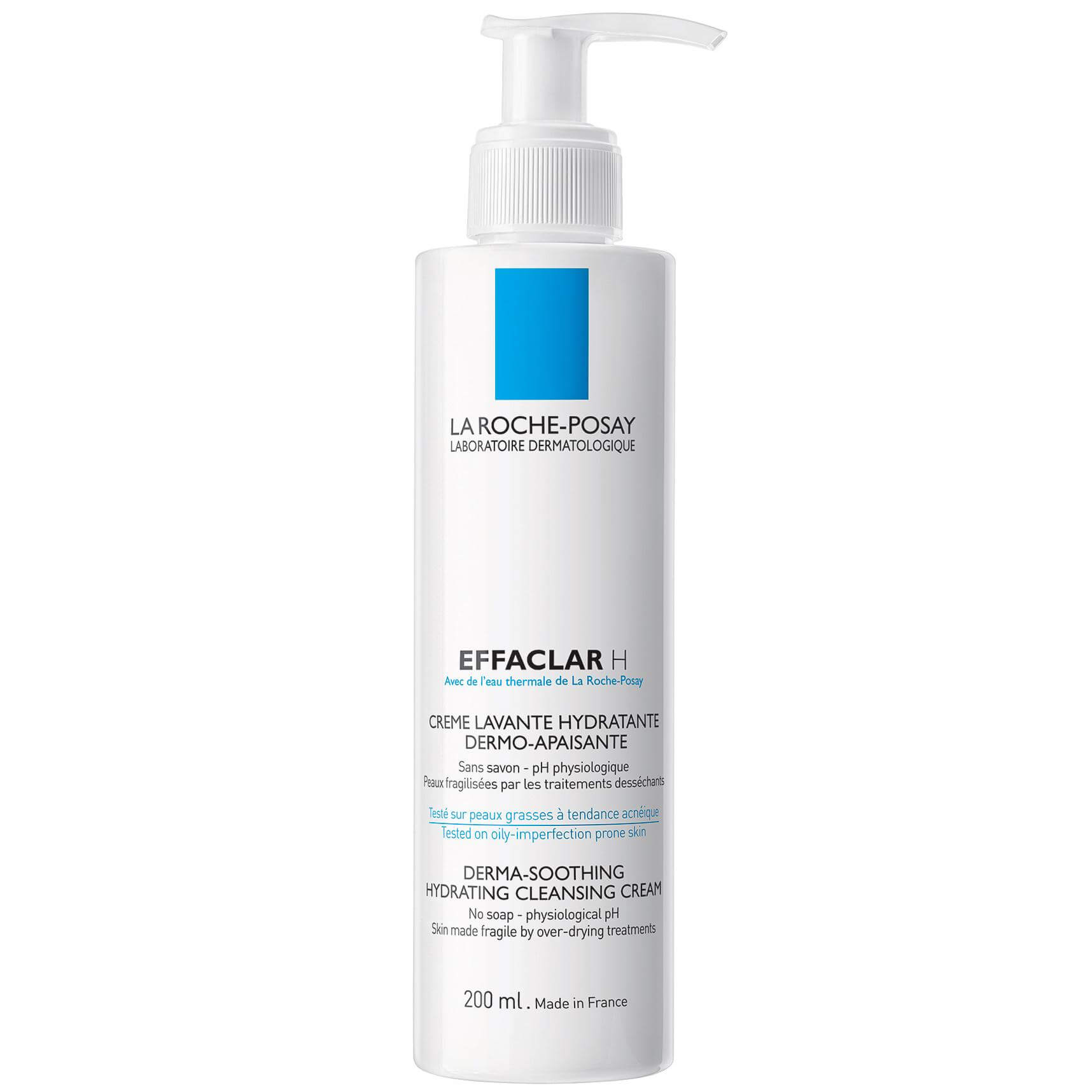 La Roche-Posay Effaclar H Cream Lavante Καταπραϋντική, Eνυδατική Kρέμα Kαθαρισμού Προσώπου με Εξυγιαντικούς Παράγοντες 200ml