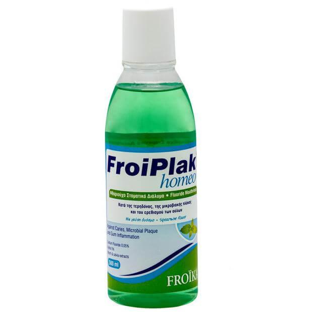 Froika Froiplak Homeo Mouthwash Δυόσμος Φθοριούχο Στοματικό Διάλυμα Κατάλληλο για Ομοιοπαθητική 500ml
