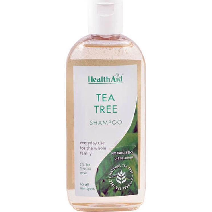 Health Aid Tea Tree Shampoo για Όλους τους Τύπους Μαλλιών. Ιδανικό Σαμπουάν και για Πρόληψη απο τις Ψείρες 250ml
