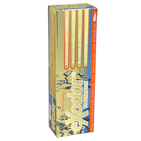 Intermed Exodor Toothpaste Ειδικά Σχεδιασμένη Οδοντόκρεμα για τον Αποτελεσματικό Έλεγχο της Κακοσμίας του Στόματος 100ml