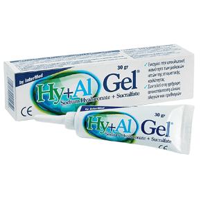 Intermed Hy+Al Gel Γέλη Επούλωσης των Μαλακών Ιστών της Στοματικής Κοιλότητας 30gr