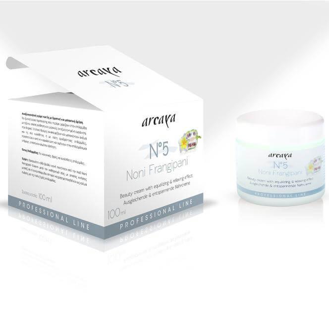 Arcaya Noni Frangipani Cream No5 Πλούσια, Φρουτώδης και Αναζωογονητική Κρέμα Νυκτός 100ml
