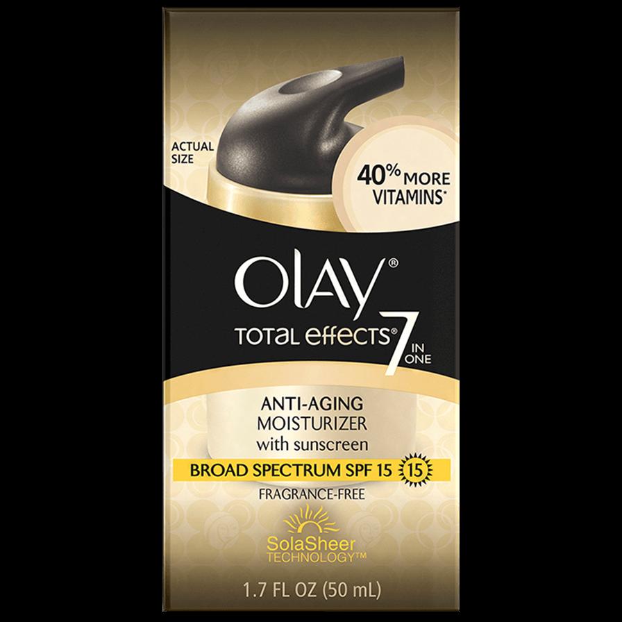 Olay Total Effects 7 Moisturizer Spf15 Αντιγηραντική Κρέμα Προσώπου που Προσφέρει 7 Αντιγηραντικά Πλεονεκτήματα σε 1 Προϊόν 50ml