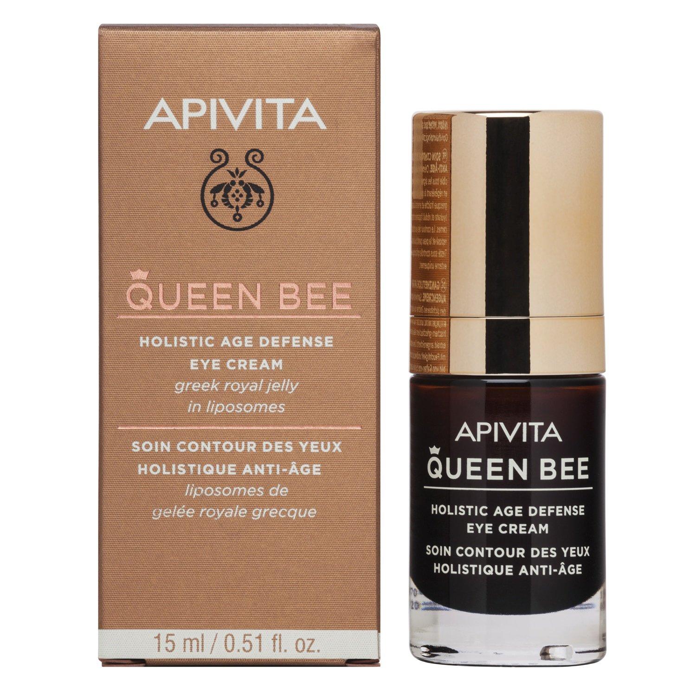 Queen Bee Holistic Age Defence Eye Cream With Greek Royal Jelly In Liposomes 15ml – Apivita,Κρέμα Ματιών Ολιστικής Αντιγήρανσης