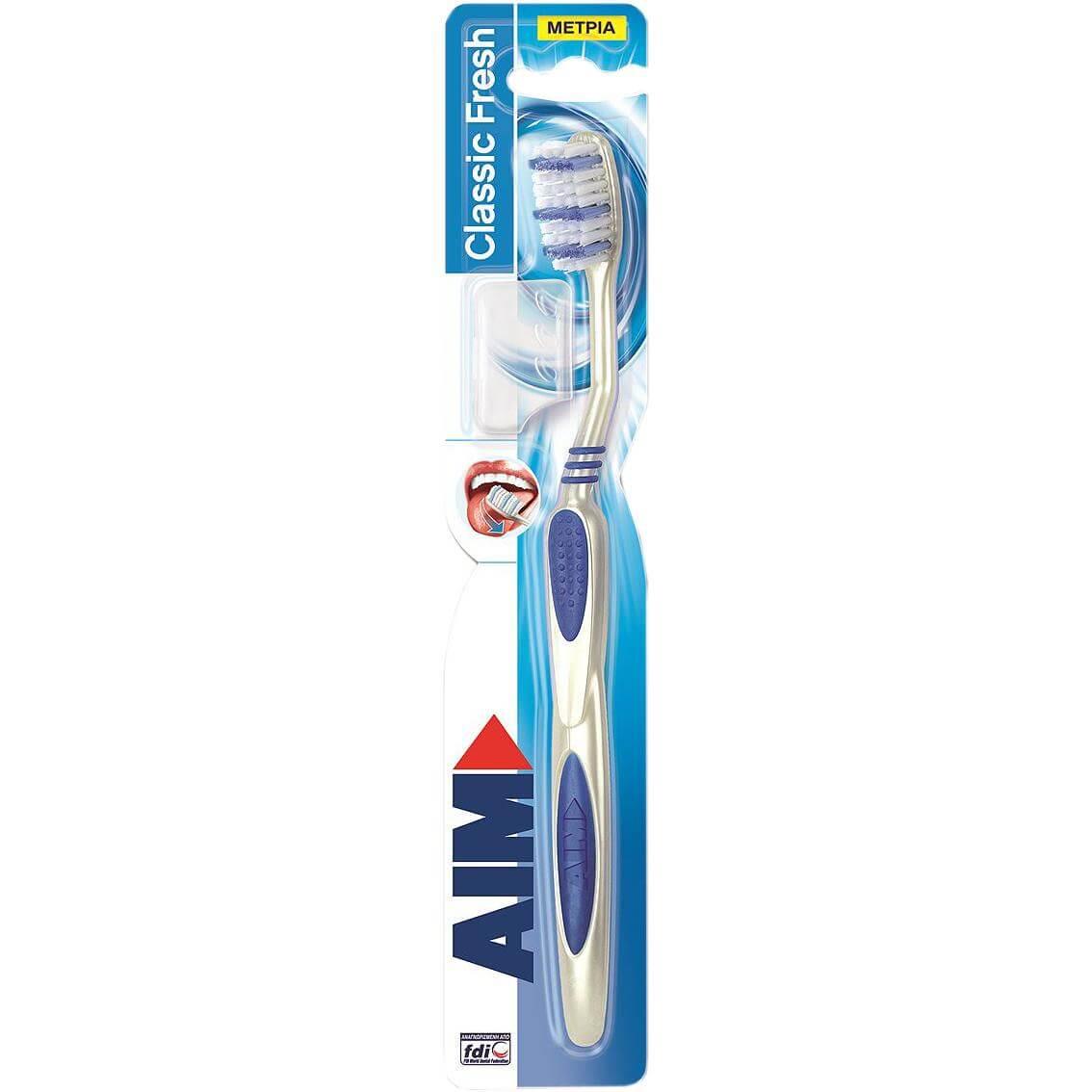 Αim Classic Fresh Οδοντόβουρτσα Μέτρια