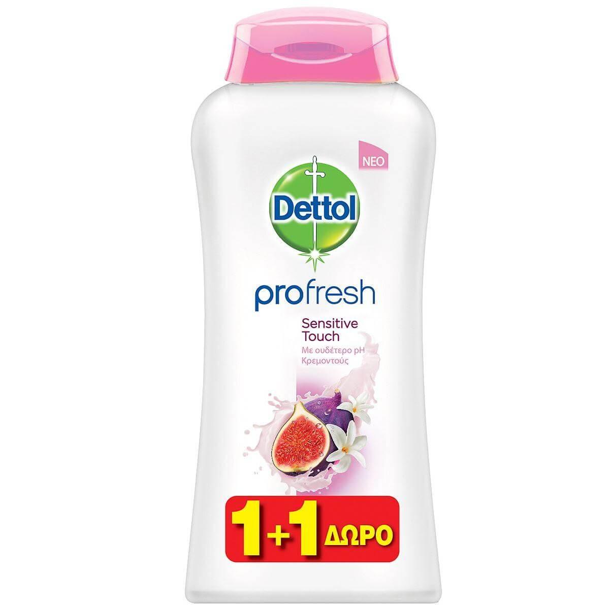 Dettol Profresh Sensitive TouchΑφροντούς με Αίσθημα Φρεσκάδας 1+1 Δώρο 500ml