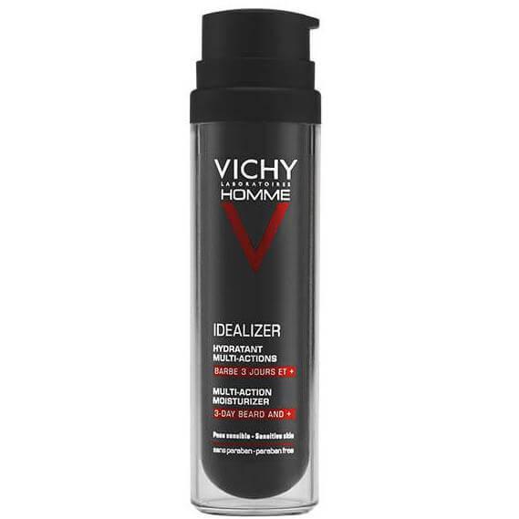 Vichy Homme Idealizer Multi-Actions Moisturizer 3-Day Beard and + Ενυδατική Κρέμα Πολλαπλών Δράσεων για Γένια 3+ Ημερών 50ml