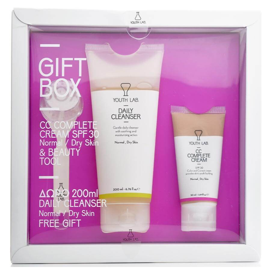 YOUTH LAB Spring Gift Box for Normal-Dry Skin With CC Complete Cream Spf30 50ml & Beauty Tool & Δώρο Daily Cleanser 200ml
