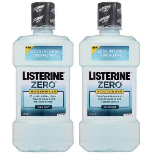 Listerine Zero Κατά των Μικροβίων 2 x 500ml 1+1 Δώρο
