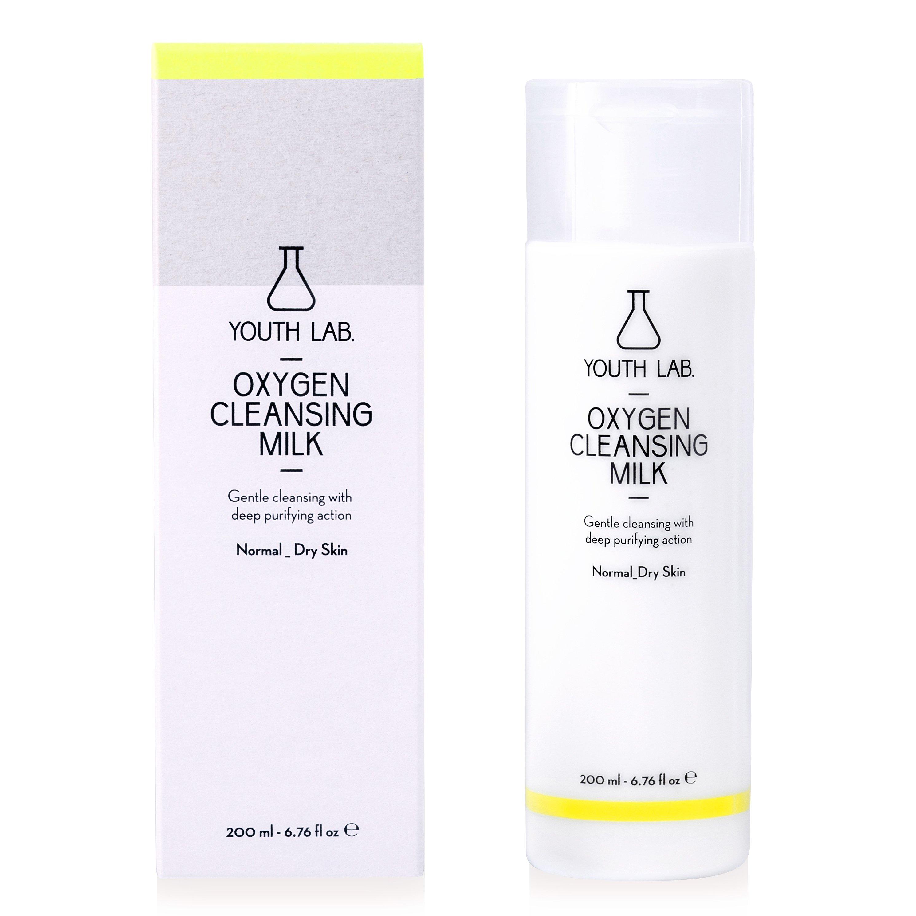 Youth Lab Oxygen Cleansing Milk for Normal Dry Skin Απαλό Γαλάκτωμα Προσώπου με Βαθιά Καθαριστική – Εξυγιαντική Δράση 200ml