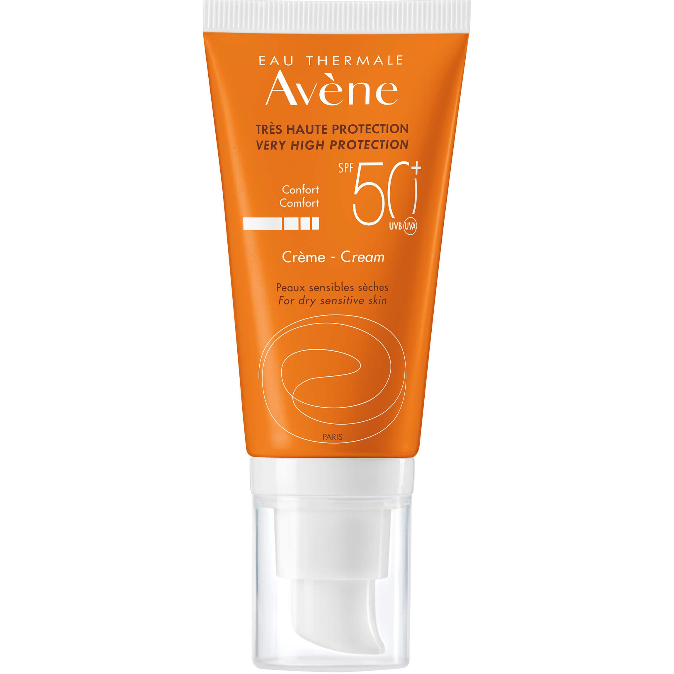 Avene Creme Comfort Spf50+ Αντηλιακή Κρέμα Προσώπου Πολύ Υψηλής Προστασίας για Ξηρή – Ευαίσθητη Επιδερμίδα50ml