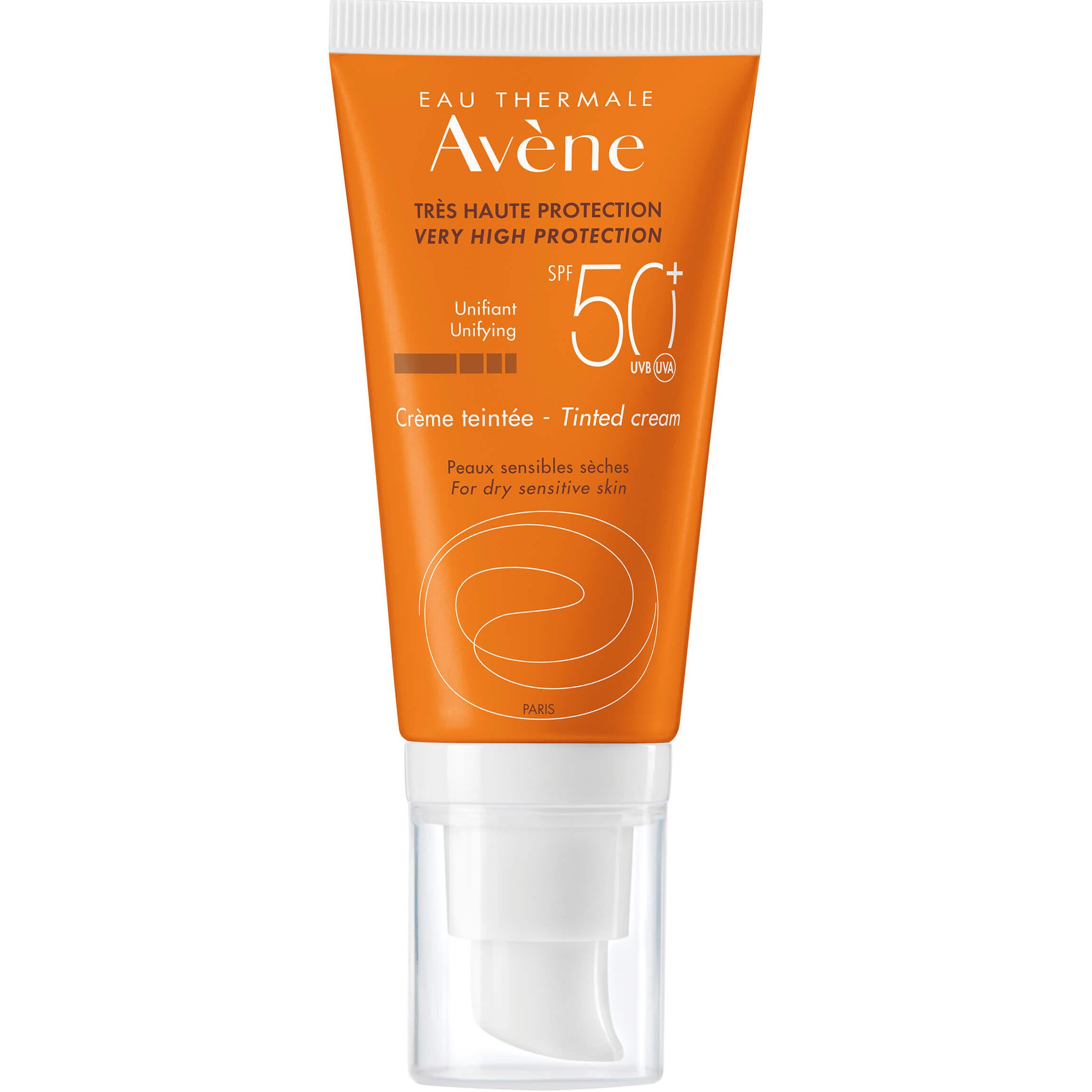 Avene Creme Tinted Cream Spf50+ Αντηλιακή Κρέμα Προσώπου Πολύ Υψηλής Προστασίας με Χρώμαγια Ξηρή – Ευαίσθητη Επιδερμίδα50ml