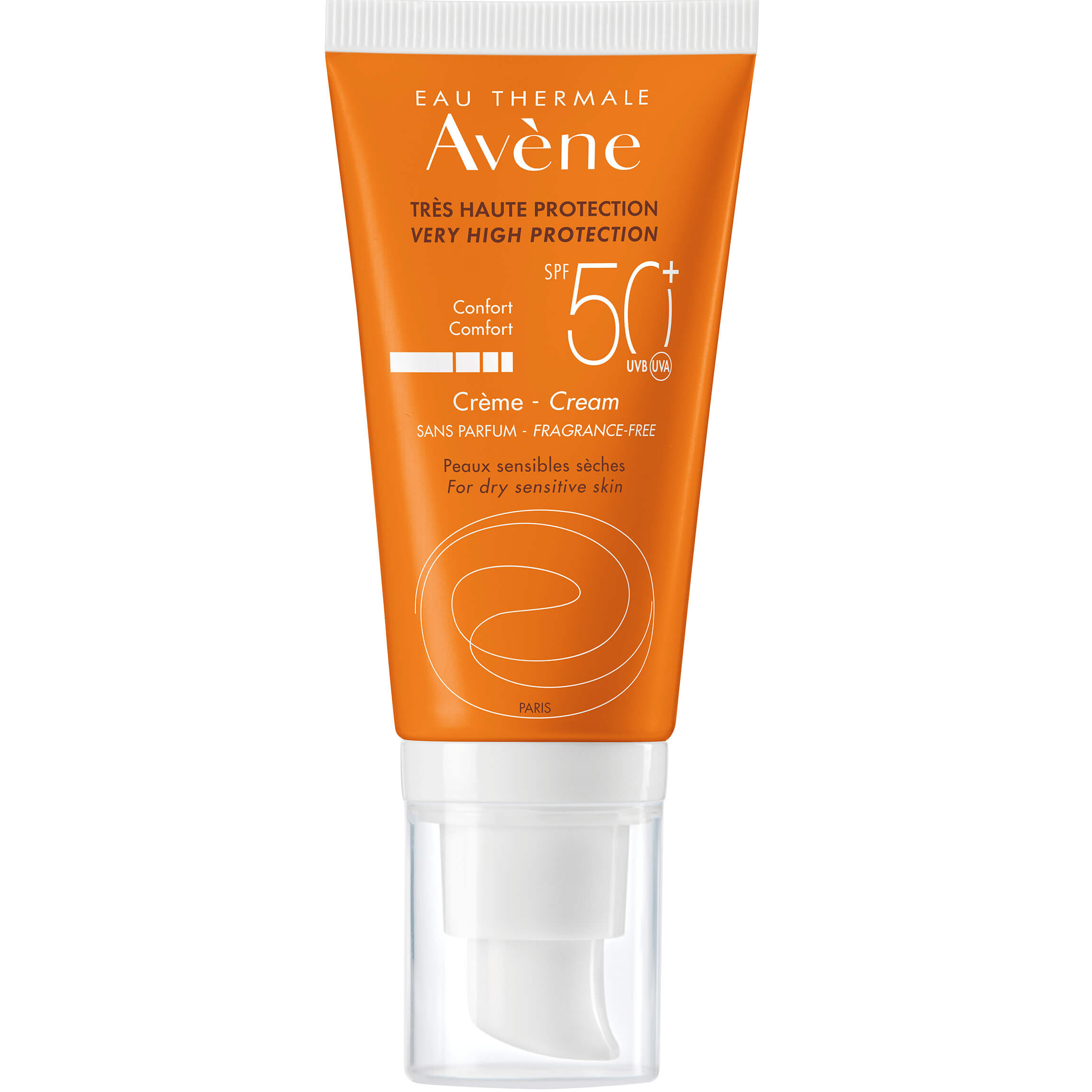 Avene Creme Comfort Spf50+ Αντηλιακή Κρέμα Προσώπου Πολύ Υψηλής ΠροστασίαςΧωρίς Άρωμα για Ξηρή – Ευαίσθητη Επιδερμίδα50ml
