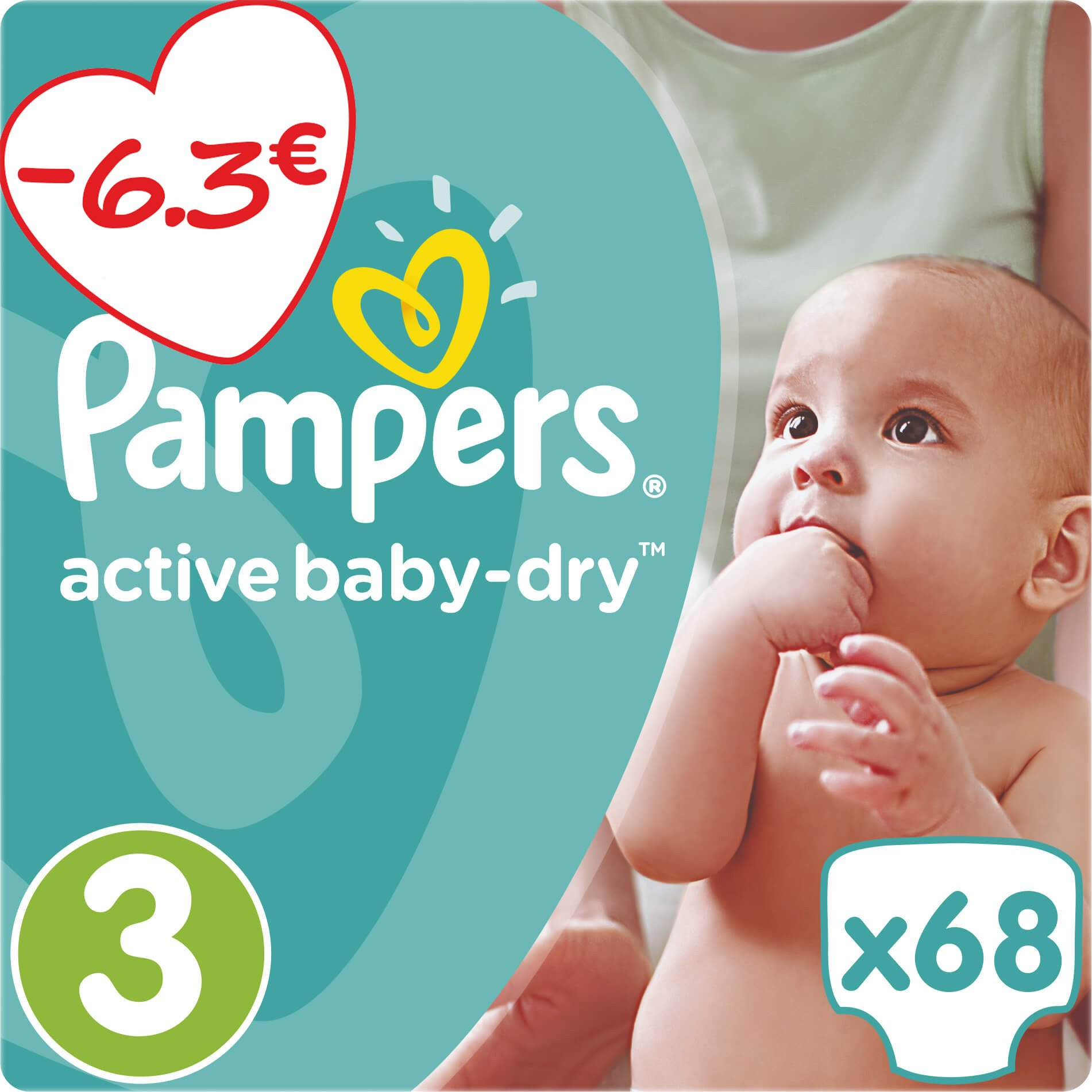Pampers Active Baby Dry Jumbo Pack No3 (5-9kg) 68 πάνες μητέρα παιδί   περιποίηση για το μωρό   πάνες για το μωρό