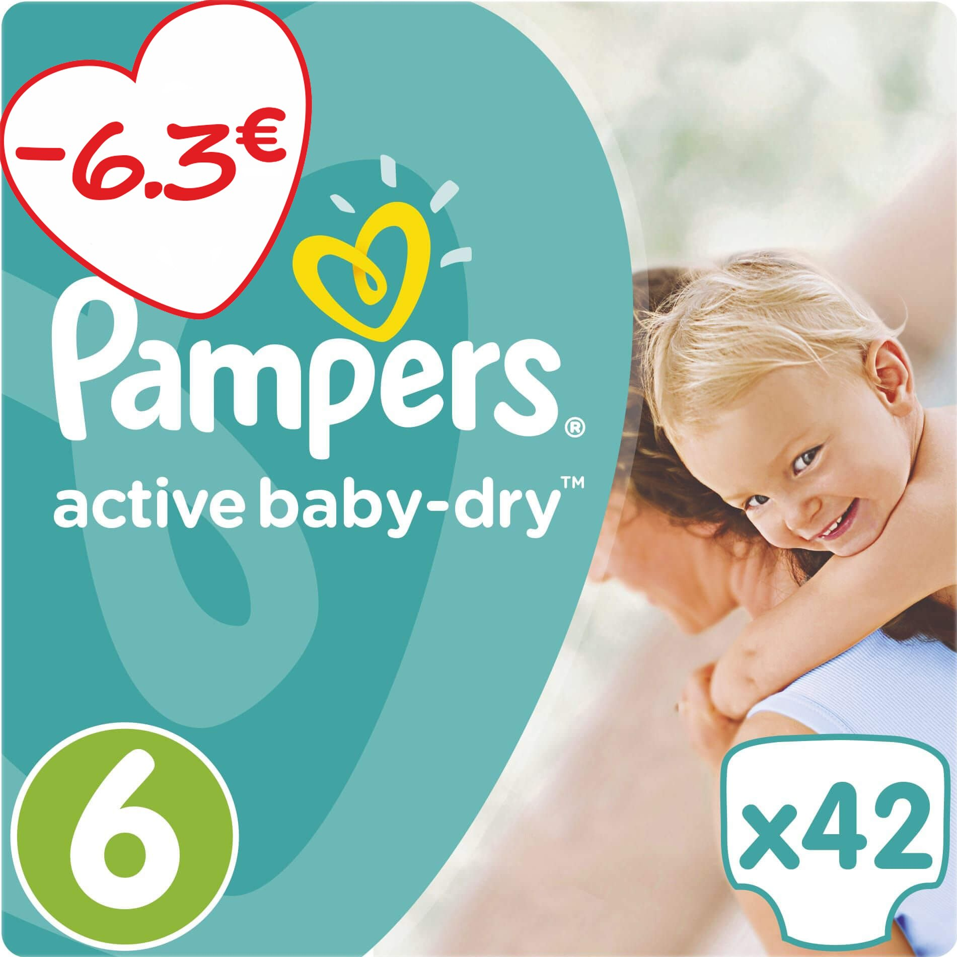 Pampers Active Baby Dry Jumbo Pack No6 (15+kg) 42 πάνες μητέρα παιδί   περιποίηση για το μωρό   πάνες για το μωρό