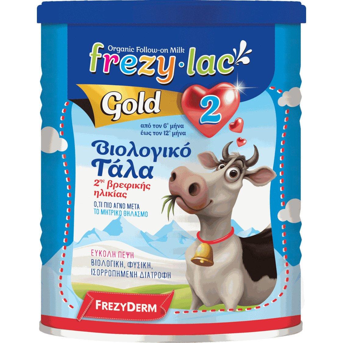 Frezyderm Frezylac Gold 2 Αγελαδινό Βιολογικό Γάλα 2ης Βρεφικής Ηλικίας από τον 6ο Έως τον 12ο Μήνα 400gr