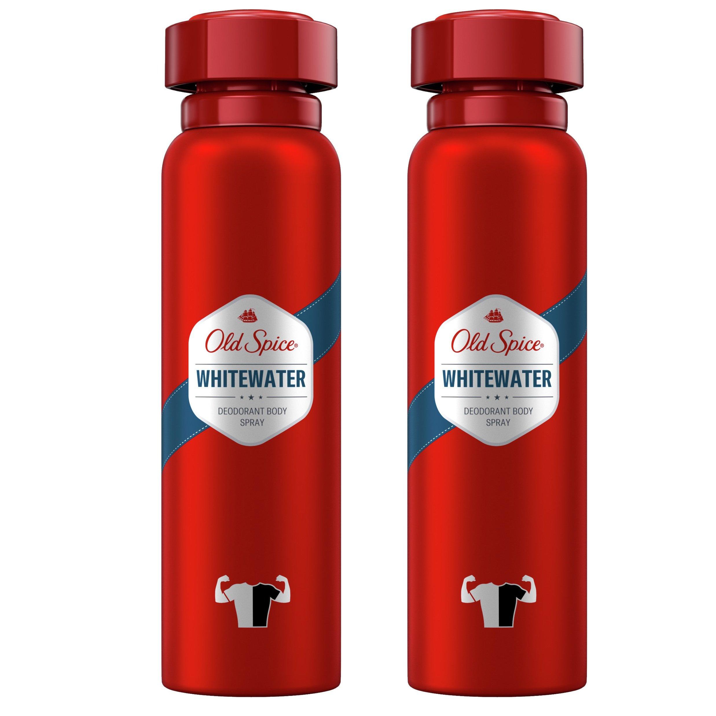 Old Spice Πακέτο Προσφοράς Whitewater Deodorant Body Spray 2x150ml,Αντιδρωτικό & Αποσμητικό Spray Σώματος για Άντρες
