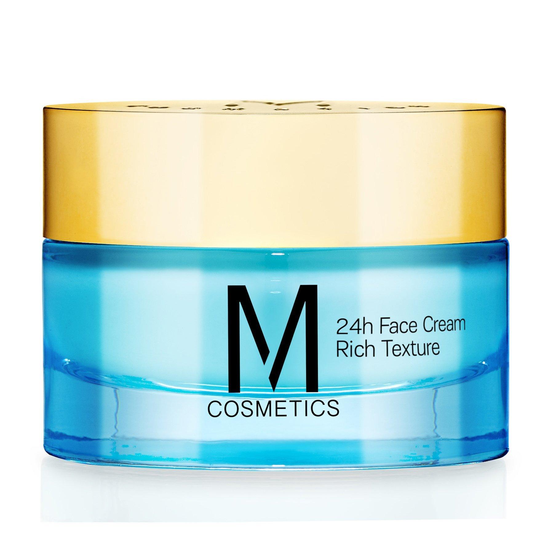 M Cosmetis 24h Face Cream Rich Texture 24ωρη Κρέμα Προσώπου Πλούσιας Υφής με Ολοκληρωμένη Αντιρυτιδική & Συσφικτική Δράση 50ml