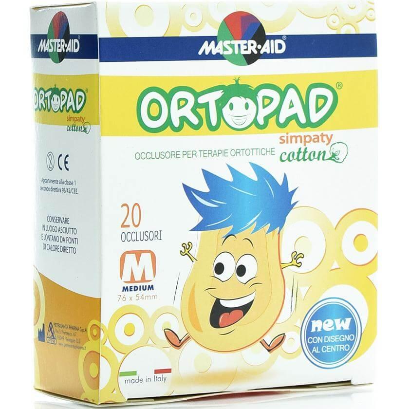 Master Aid Ortopad 20 Medium Simpaty Οφθαλμικά Αυτοκόλλητα Για Στραβισμό (2 έως 4 ετών)