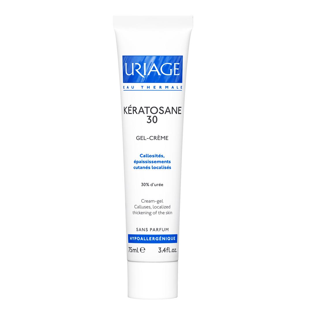 Uriage Eau Thermale Keratosane 30 Cream Gel 30% Urea Προσφέρει Ολοκληρωμένη Καταπραϋντική Φροντίδα 75ml
