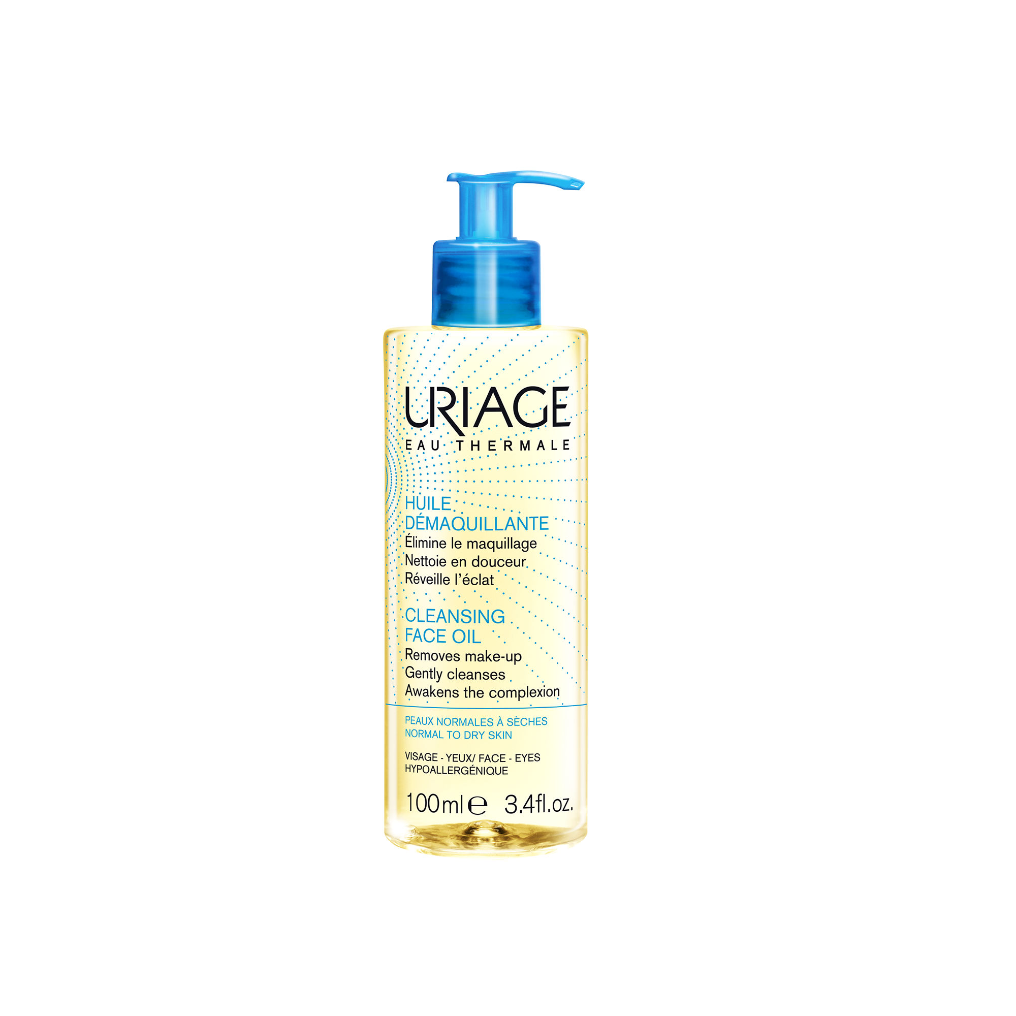 Uriage Eau Thermale Cleansing Face Oil Απομακρύνει το Μακιγιάζ το Σμήγμα και τους Ρύπους 100ml
